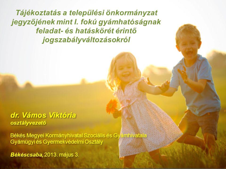 II.2013. év április hó 1. napjától hatályos jogszabályváltozások: 3.