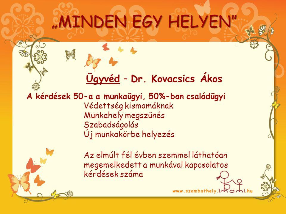 """""""MINDEN EGY HELYEN Ügyvéd – Dr."""