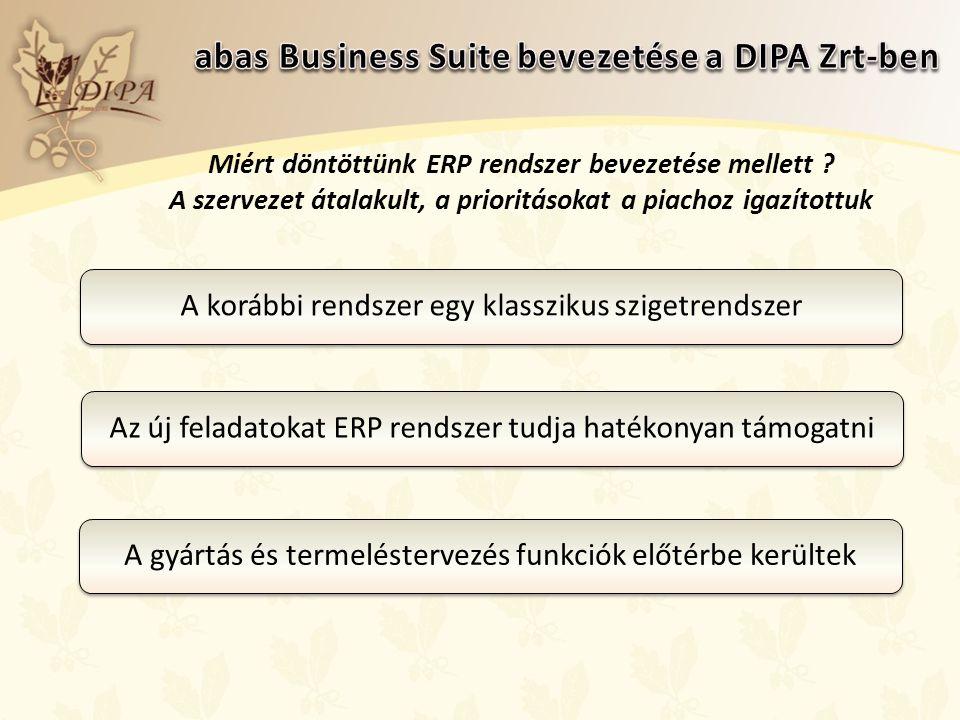 Miért döntöttünk ERP rendszer bevezetése mellett .