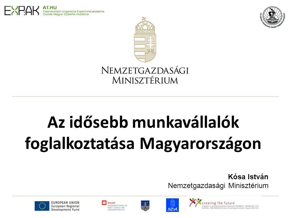 Az idősebb munkavállalók foglalkoztatása Magyarországon Kósa István Nemzetgazdasági Minisztérium