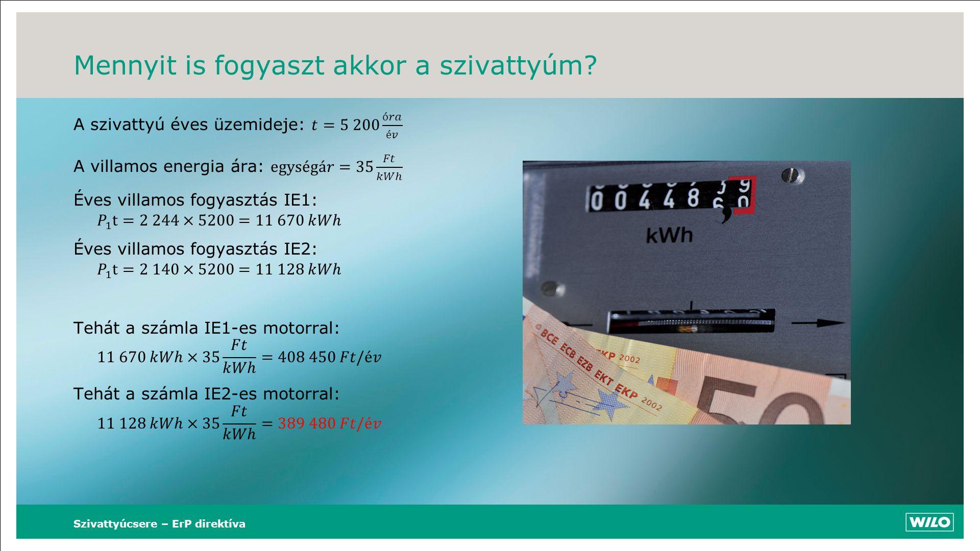 Mennyit is fogyaszt akkor a szivattyúm? Szivattyúcsere – ErP direktíva
