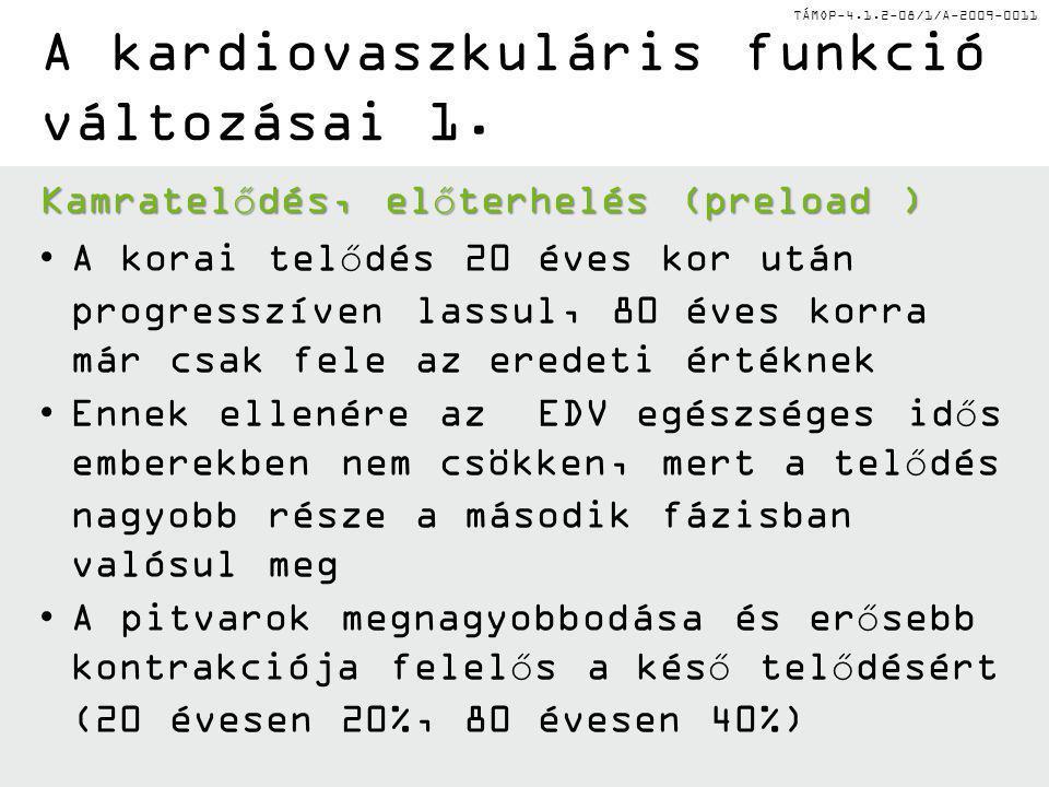 TÁMOP-4.1.2-08/1/A-2009-0011 A kardiovaszkuláris funkció változásai 1.