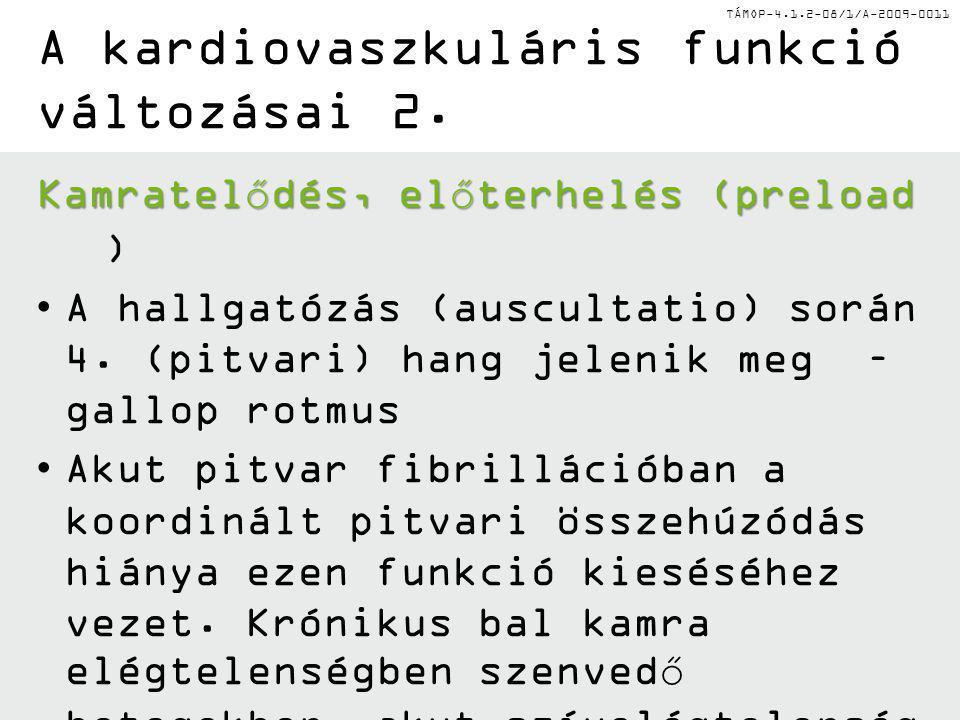 TÁMOP-4.1.2-08/1/A-2009-0011 A kardiovaszkuláris funkció változásai 2.