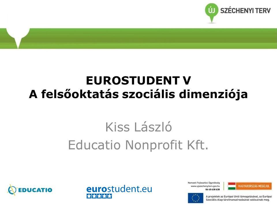 EUROSTUDENT V A felsőoktatás szociális dimenziója Kiss László Educatio Nonprofit Kft.
