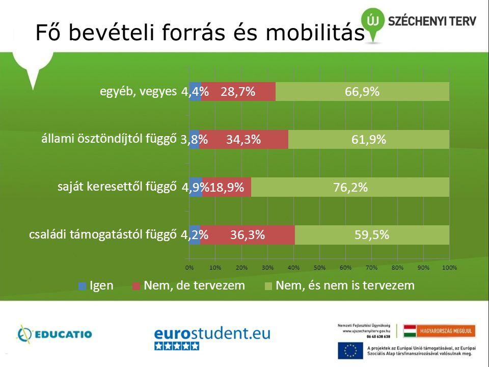 Fő bevételi forrás és mobilitás