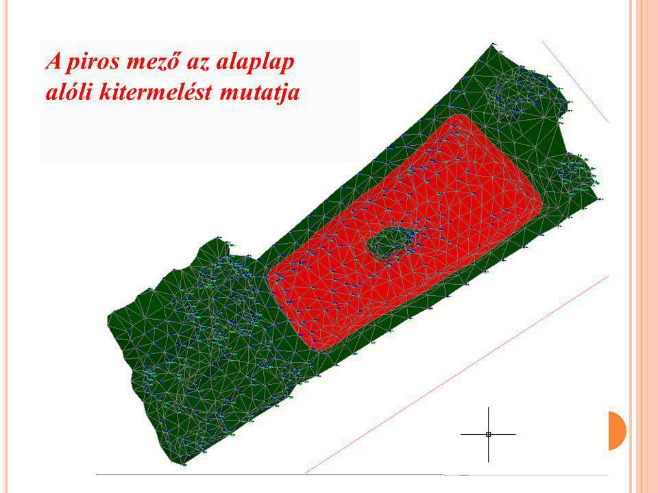 A piros mező az alaplap alóli kitermelést mutatja