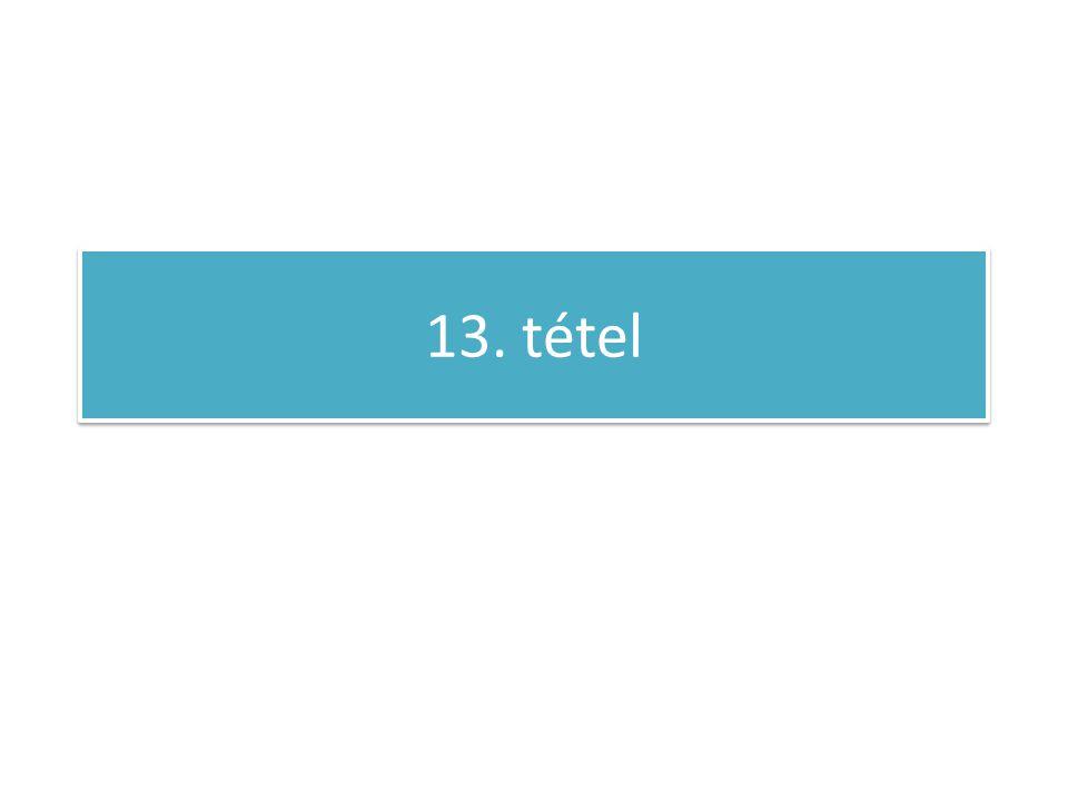 13. tétel