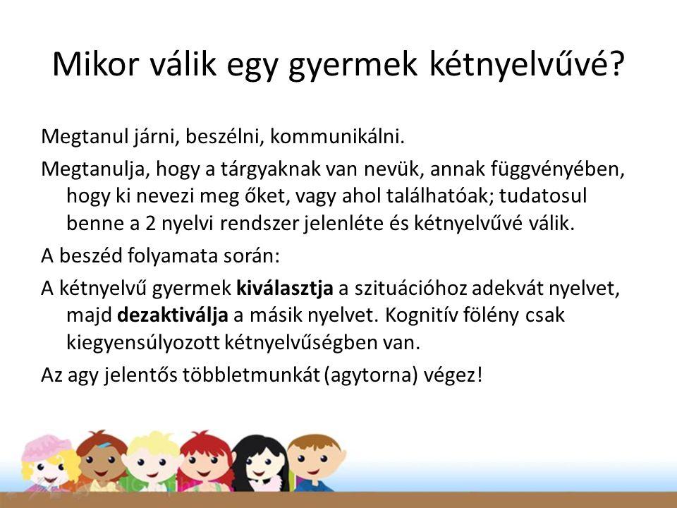 Mikor válik egy gyermek kétnyelvűvé? Megtanul járni, beszélni, kommunikálni. Megtanulja, hogy a tárgyaknak van nevük, annak függvényében, hogy ki neve