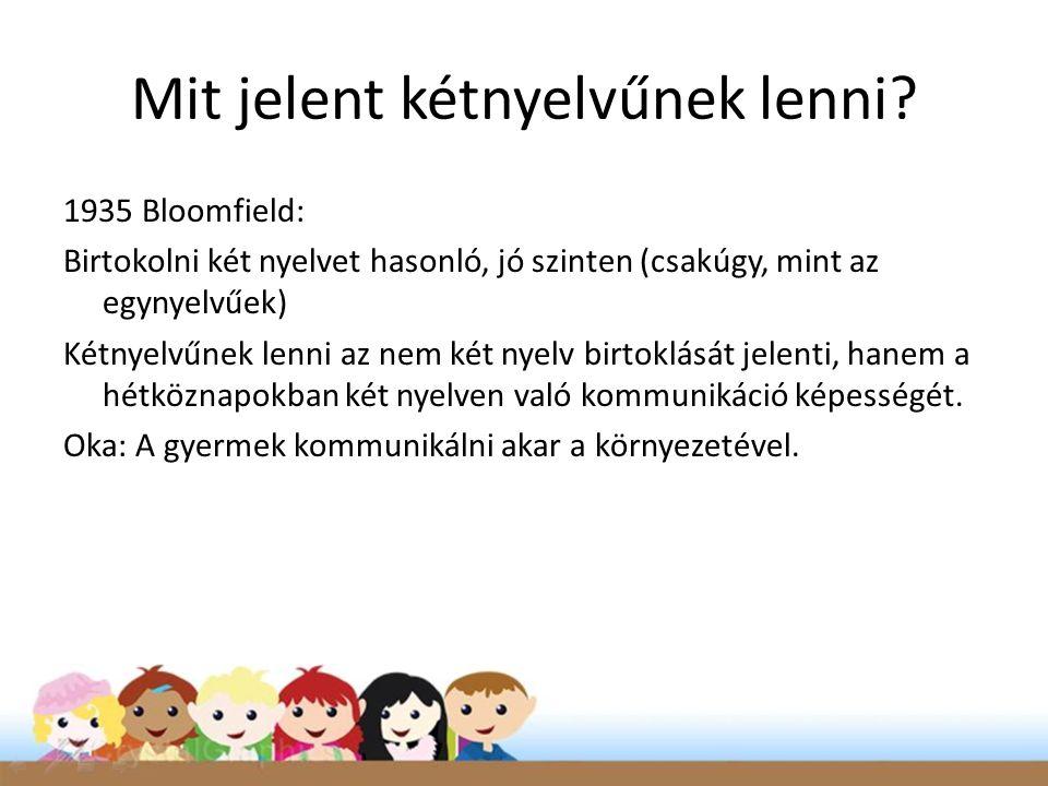 Értelmetlen az egynyelvű gyermekek kritériumai szerint megítélni a kétnyelvűeket.