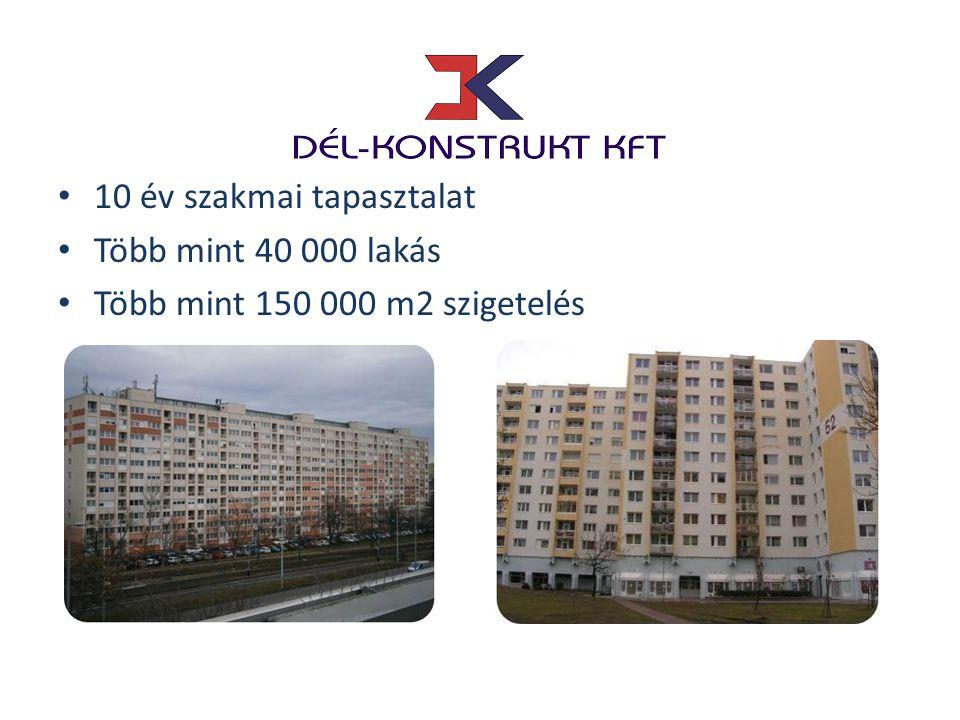 • 10 év szakmai tapasztalat • Több mint 40 000 lakás • Több mint 150 000 m2 szigetelés