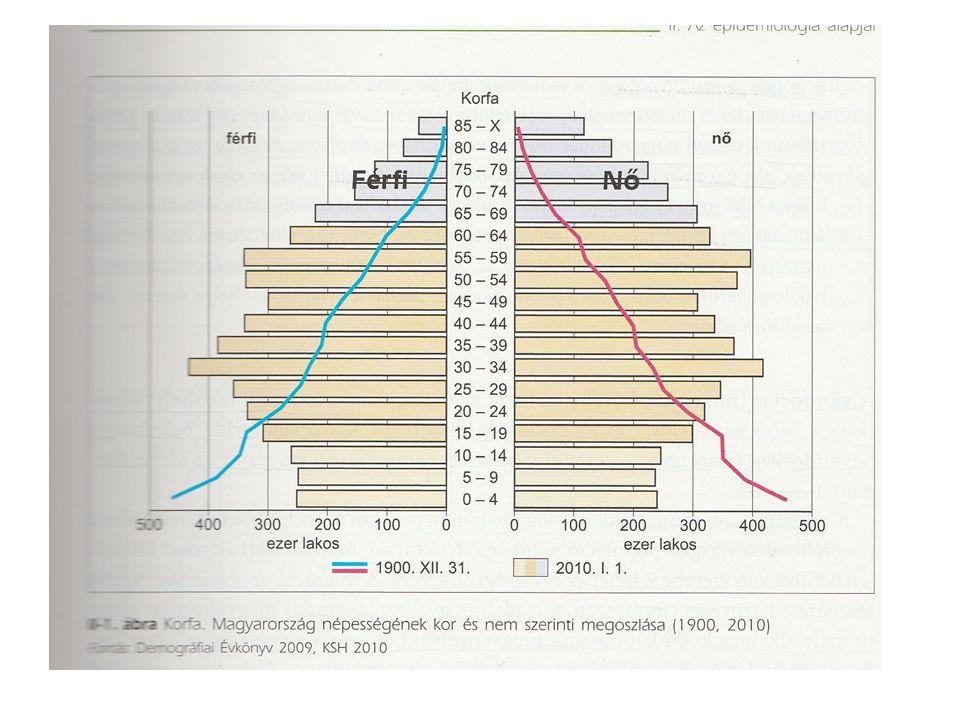 A legfontosabb demográfiai mutatók I.