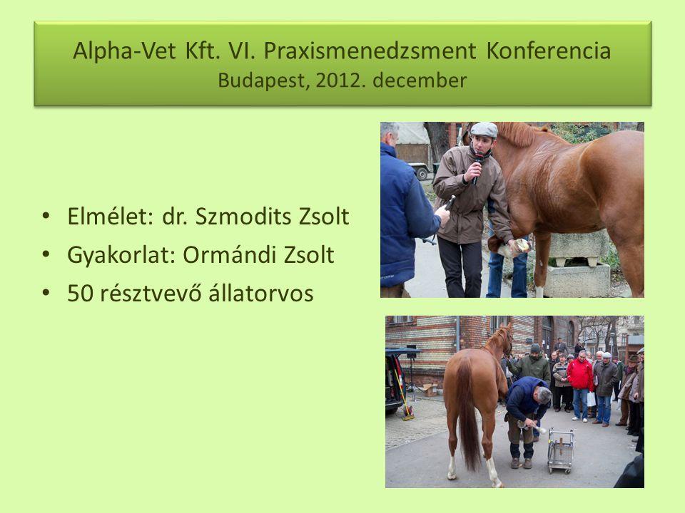 Alpha-Vet Kft.VI. Praxismenedzsment Konferencia Budapest, 2012.