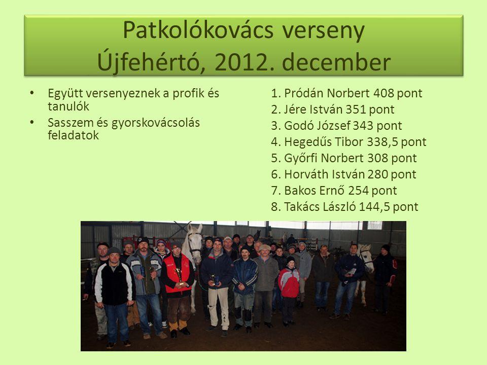Patkolókovács verseny Újfehértó, 2012.