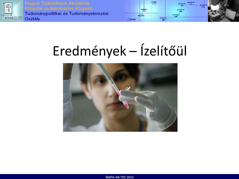 ©MTA KIK TTO 2013 Eredmények – Ízelítőül