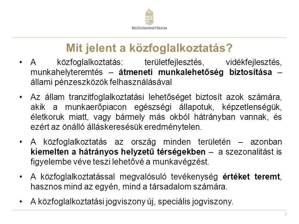 4 A közfoglalkoztatási rendszer pénzügyi keretei  Közfoglalkoztatási előirányzat mértéke 2011.