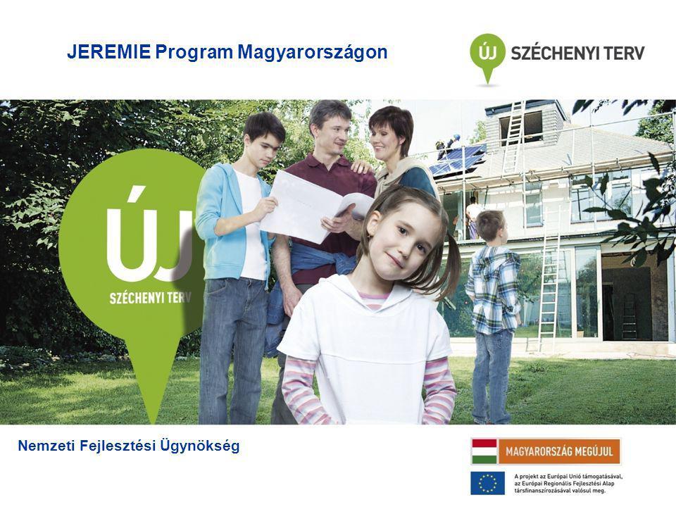 JEREMIE Program Magyarországon Nemzeti Fejlesztési Ügynökség