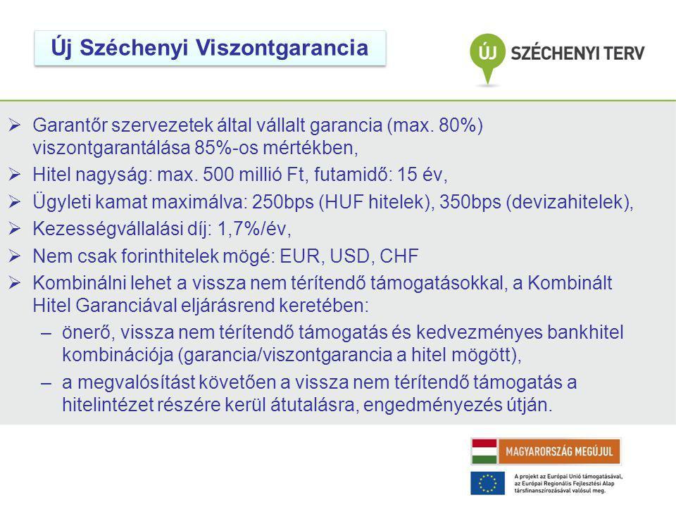  Garantőr szervezetek által vállalt garancia (max.
