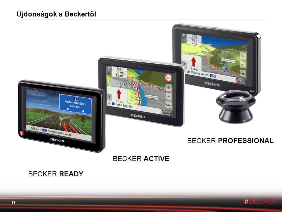 11 BECKER PROFESSIONAL Újdonságok a Beckertől BECKER ACTIVE BECKER READY
