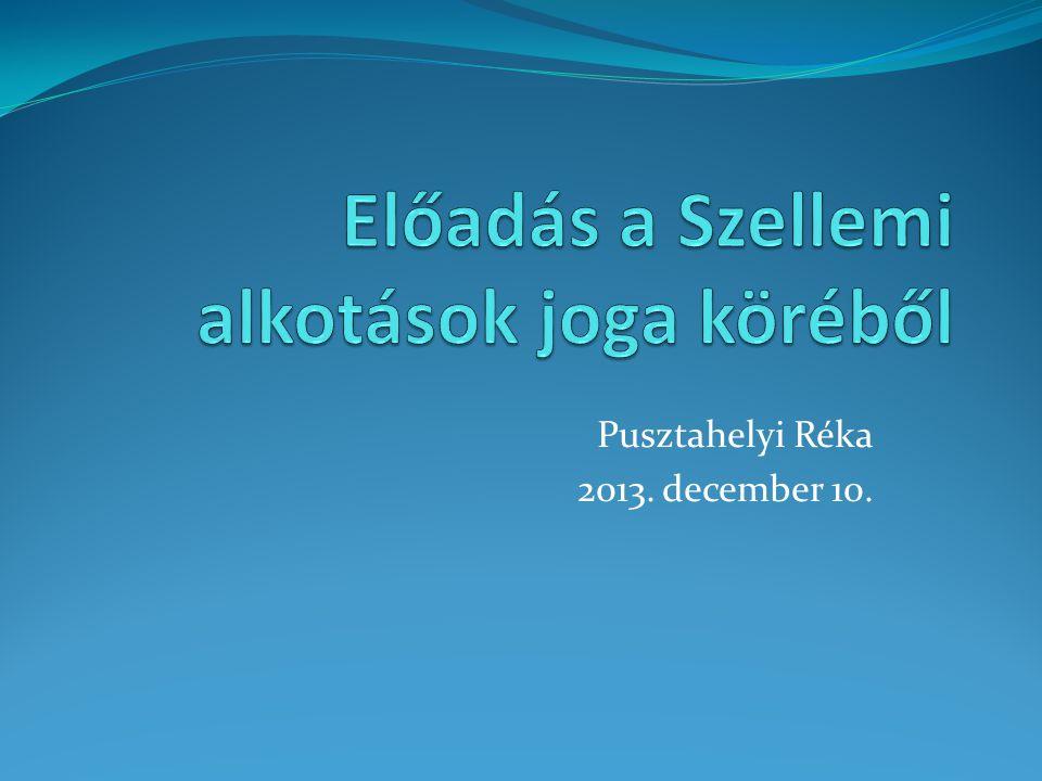 Pusztahelyi Réka 2013. december 10.