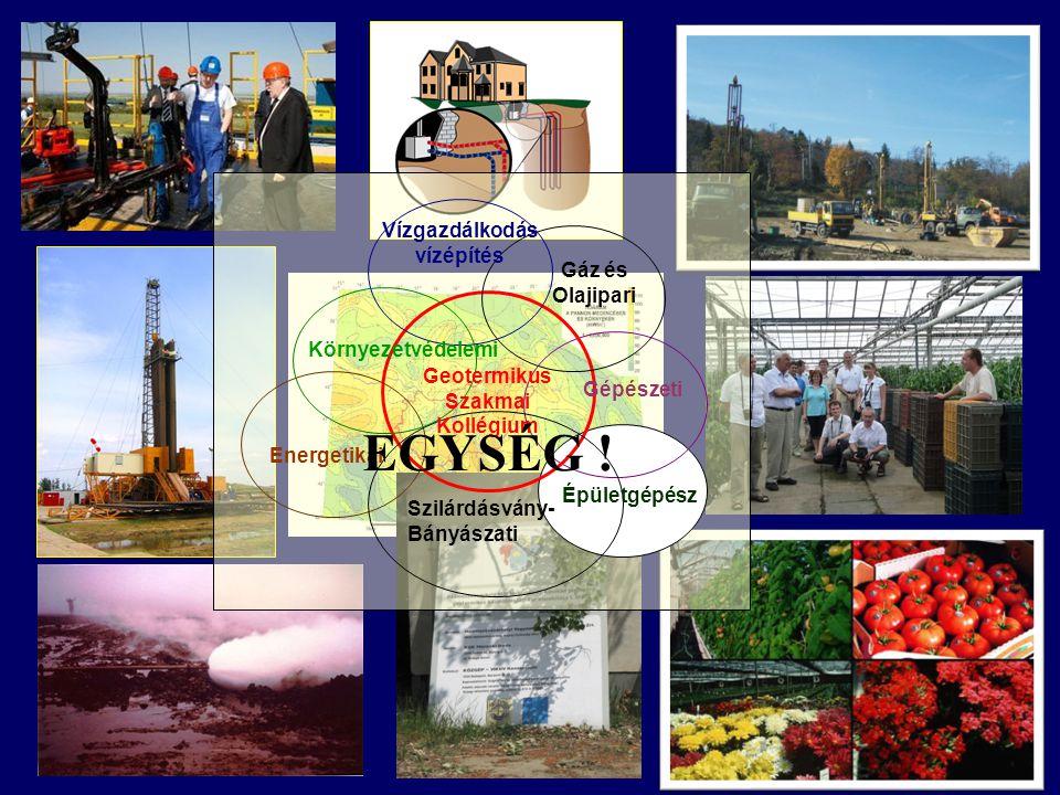 Geotermikus Szakmai Kollégium Energetikai Gáz és Olajipari Gépészeti Vízgazdálkodás vízépítés Környezetvédelemi Szilárdásvány- Bányászati Épületgépész EGYSÉG !