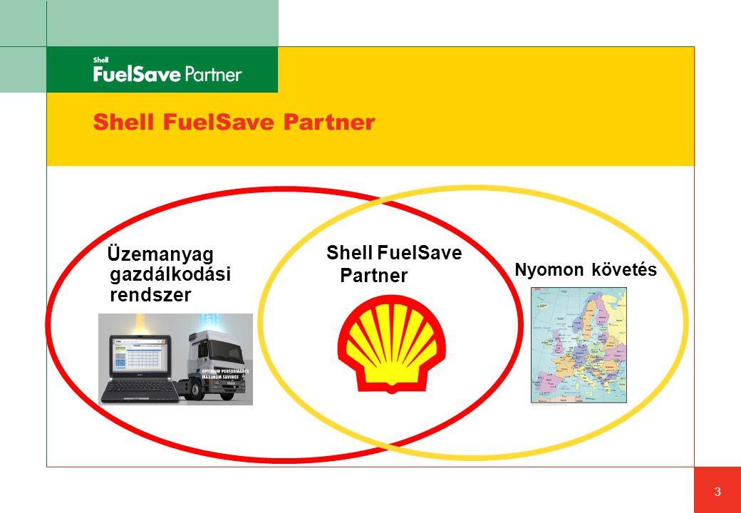 Shell FuelSave Partner Üzemanyag gazdálkodási rendszer 3 Nyomon követés Shell FuelSave Partner
