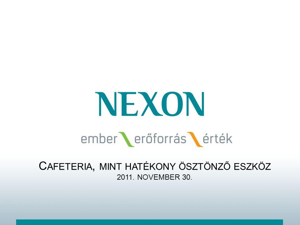 T ARTALOM Cafeteria trendek (Forrás: Szent István Egyetem Gödöllő – dr.
