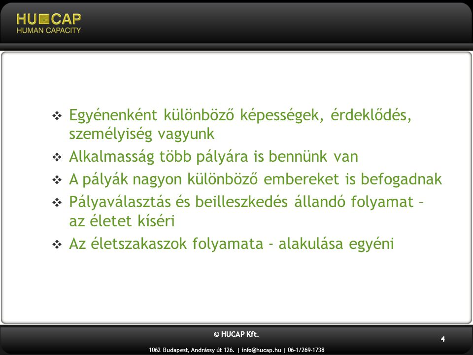 © HUCAP Kft.1062 Budapest, Andrássy út 126. | info@hucap.hu | 06-1/269-1738 15 4.