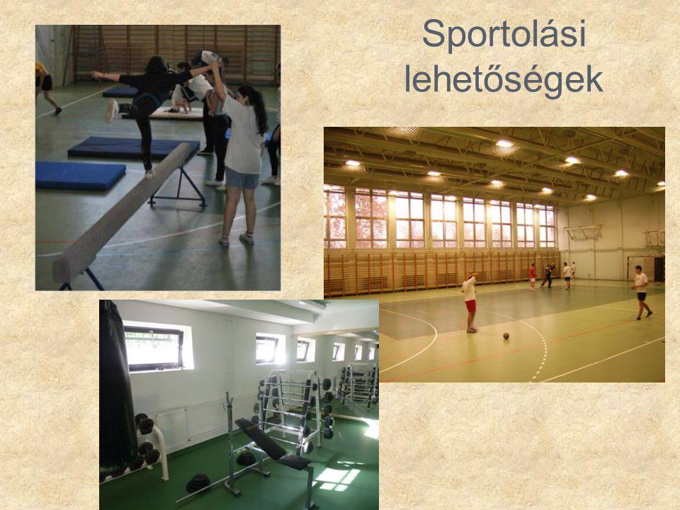 Sportolási lehetőségek