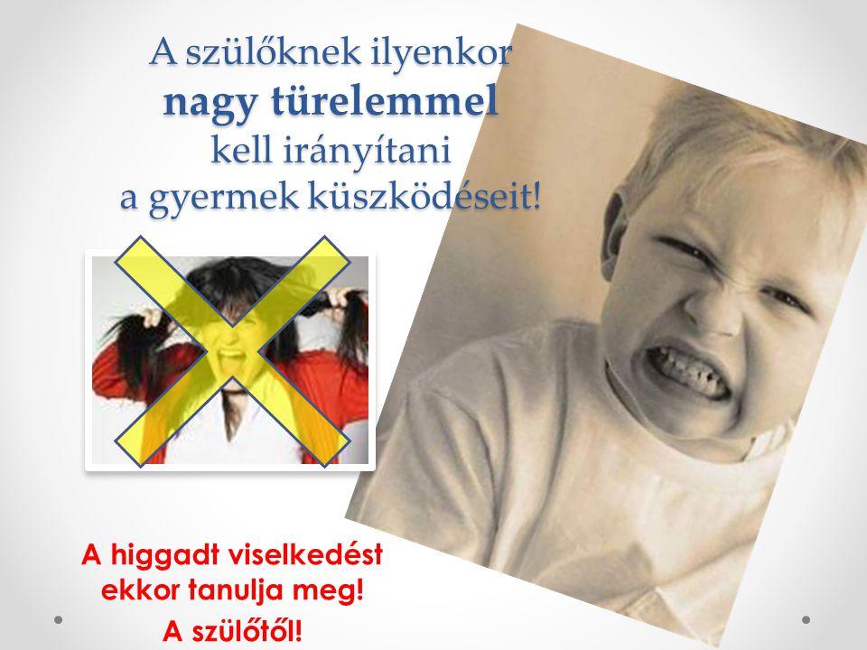 A higgadt viselkedést ekkor tanulja meg! A szülőtől! A szülőknek ilyenkor nagy türelemmel kell irányítani a gyermek küszködéseit!