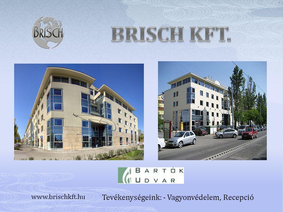 Tevékenységeink: - Vagyonvédelem, Recepció www.brischkft.hu