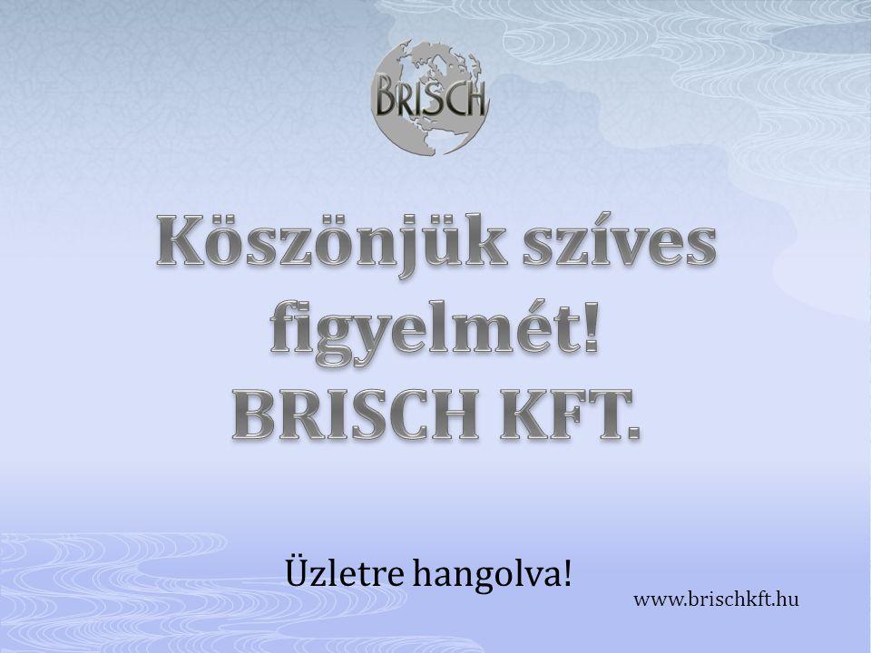 Üzletre hangolva! www.brischkft.hu