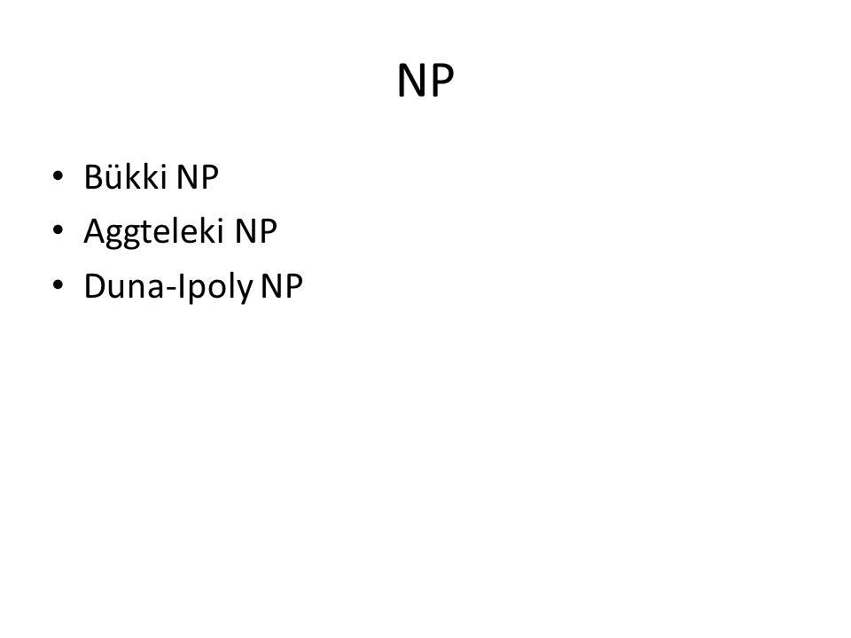 NP • Bükki NP • Aggteleki NP • Duna-Ipoly NP