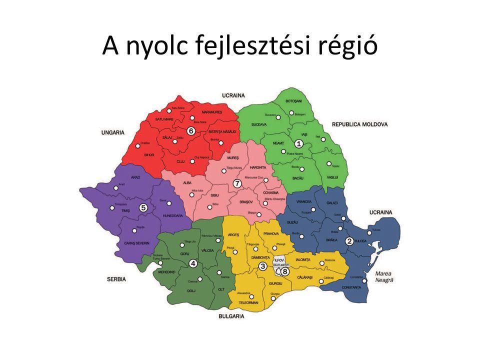 A nyolc fejlesztési régió