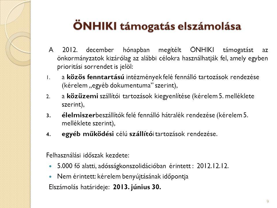 Helyi szervezési intézkedésekhez kapcsolódó többletkiadások támogatása Előirányzat: 6 800 millió forint Hatályos rendelet: 5/2013.(III.14.) BM rendelet Benyújtási határidők:  I.