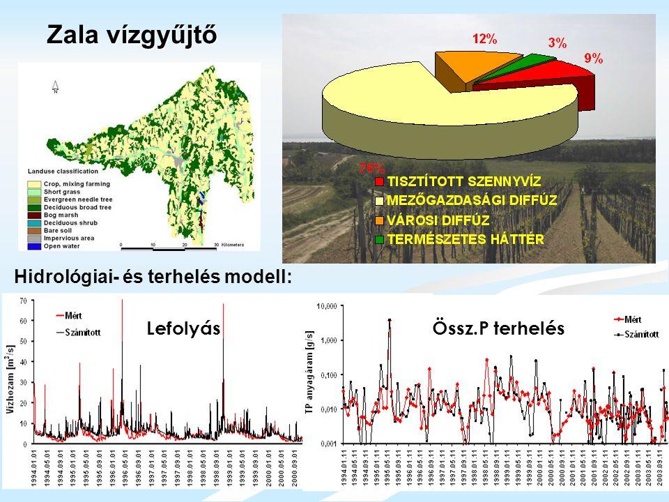 LefolyásÖssz.P terhelés Zala vízgyűjtő Hidrológiai- és terhelés modell: