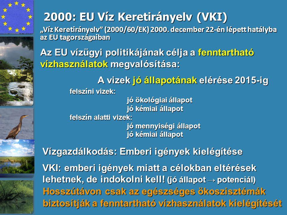 Ökológiai állapot értékelése a VKI kritériumai szerint River and lake water bodies