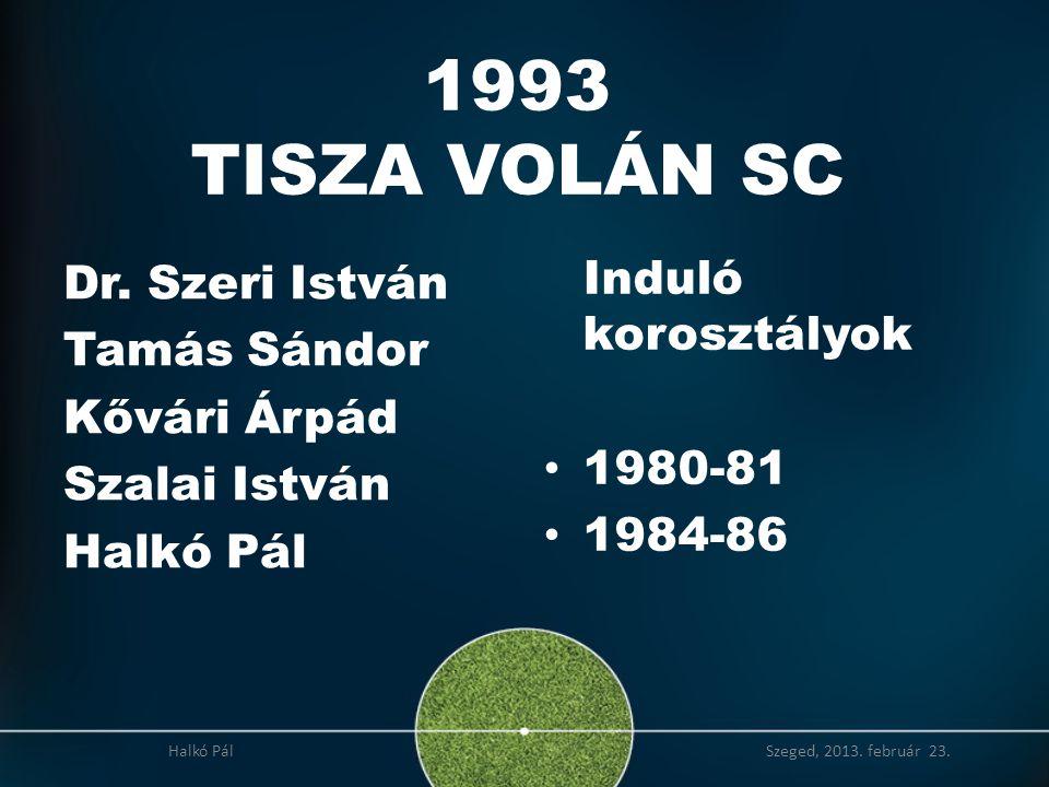 2008 Országos I.osztályú U13 bajnokság 2. helyezés (1995-ös korosztály) Halkó Pál Szeged, 2013.