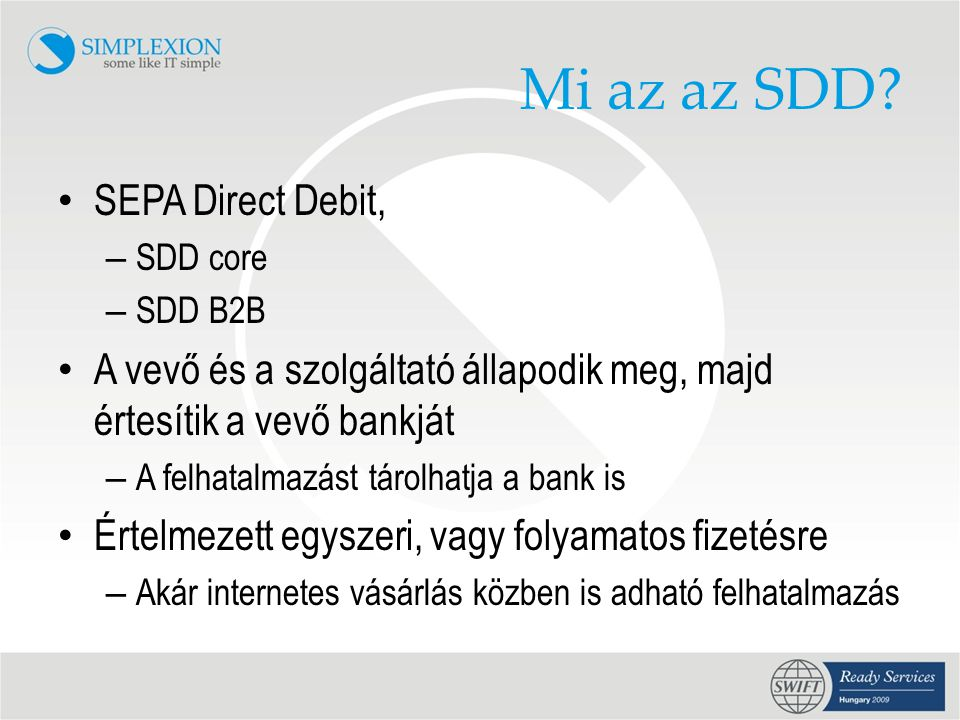 Mi az az SDD.
