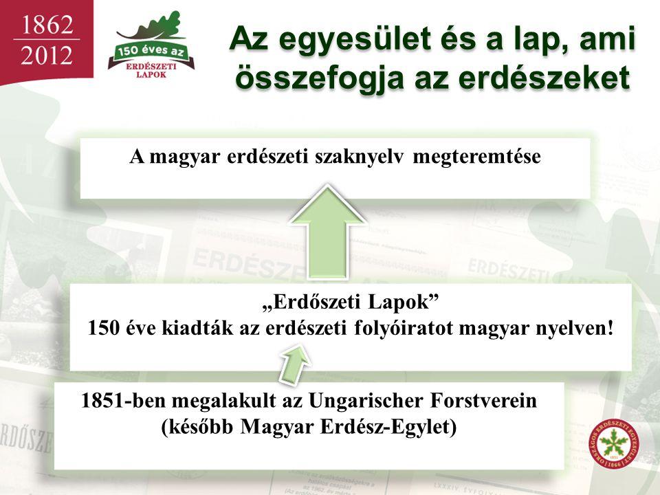 """Az egyesület és a lap, ami összefogja az erdészeket Az egyesület és a lap, ami összefogja az erdészeket A magyar erdészeti szaknyelv megteremtése """"Erd"""