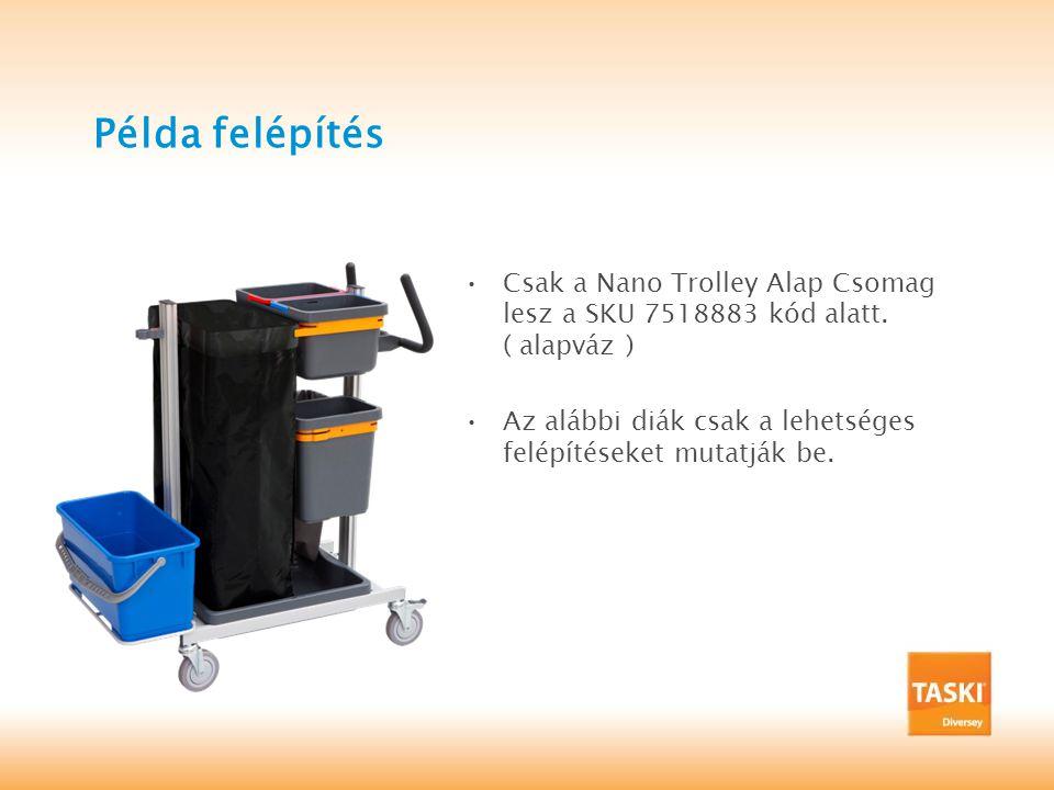 Példa felépítés •Csak a Nano Trolley Alap Csomag lesz a SKU 7518883 kód alatt.