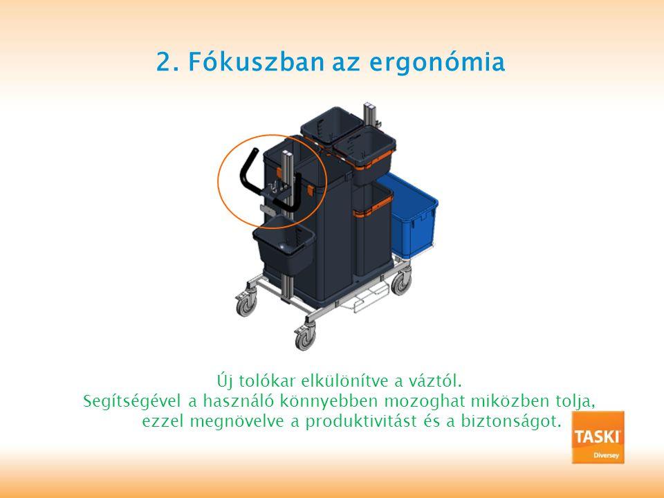 2.Fókuszban az ergonómia Új tolókar elkülönítve a váztól.