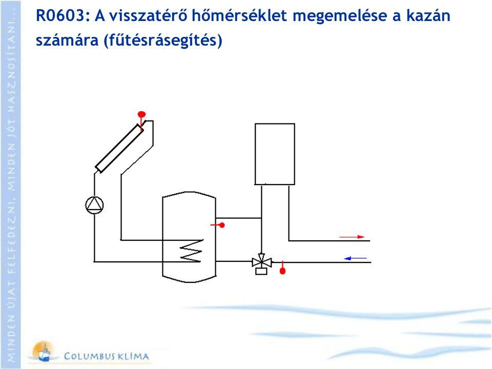 R0603: A visszatérő hőmérséklet megemelése a kazán számára (fűtésrásegítés)