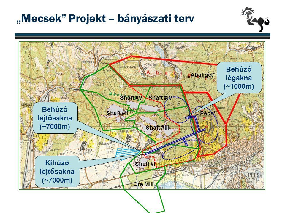"""""""Mecsek"""" Projekt – bányászati terv 19 """"Abaliget"""