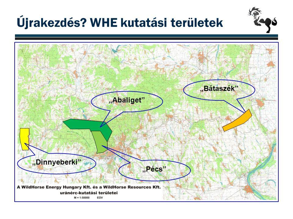 """Újrakezdés? WHE kutatási területek """"Dinnyeberki"""" """"Abaliget"""" """"Pécs"""" """"Bátaszék"""""""