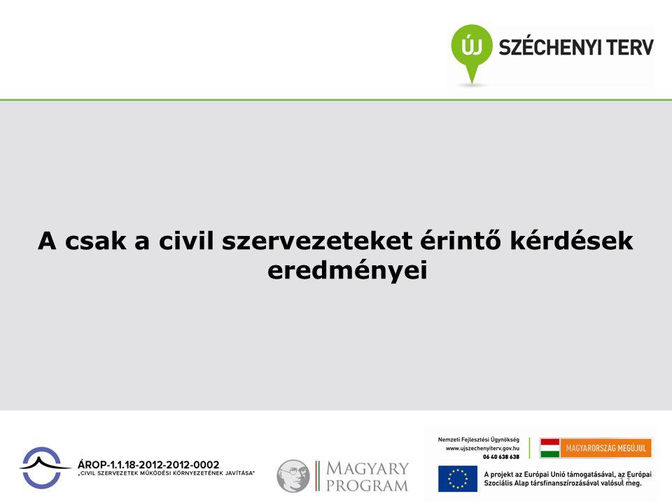 11 A csak a civil szervezeteket érintő kérdések eredményei