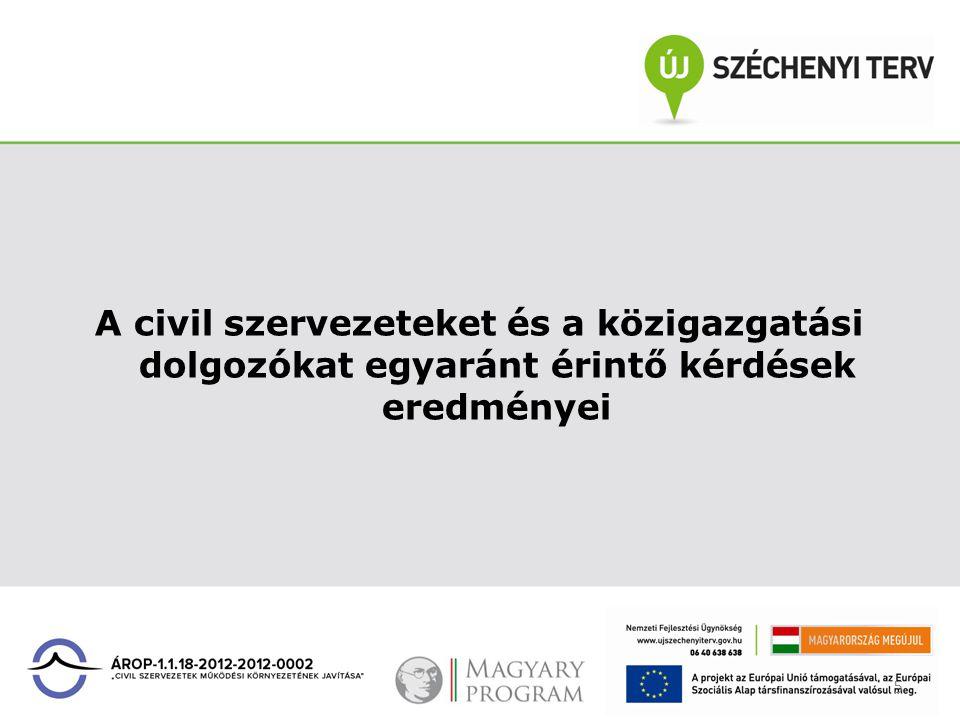 5 A civil szervezeteket és a közigazgatási dolgozókat egyaránt érintő kérdések eredményei