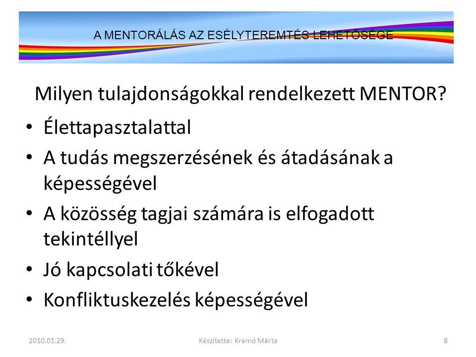 """""""Az Év Mentora Díj – 2009 Bírálóbizottsága Fővédnök: Prof."""