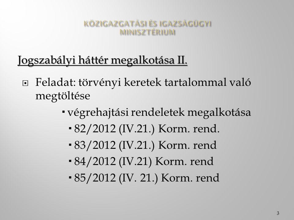 Az elmúlt egy év összefoglalása  Az e-közigazgatás jogrendszerbe illeszkedése  A koncepció kiállta az idő próbáját  Hangolási kérdések  Tapasztalatok alapján finomítások  Jogszabályi háttér korrekciója  2013.04.30-06.30 4