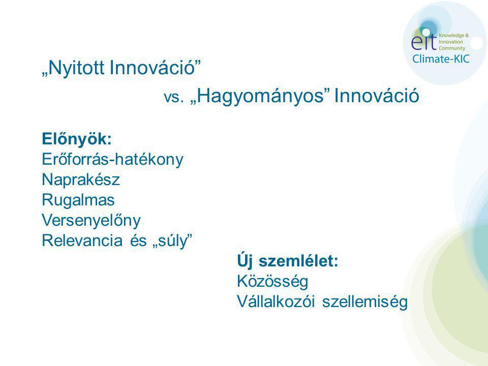 """""""Nyitott Innováció vs."""
