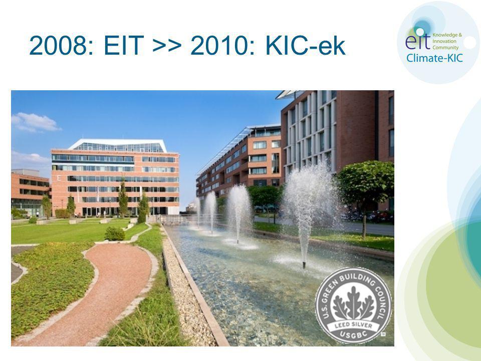 2008: EIT >> 2010: KIC-ek